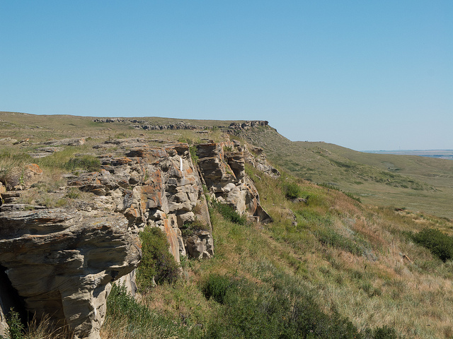 Head Smashed in Buffalo Jump.  Credit: Flickr CC