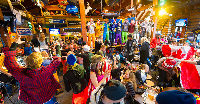 Apres in Whistler. This actually happens.