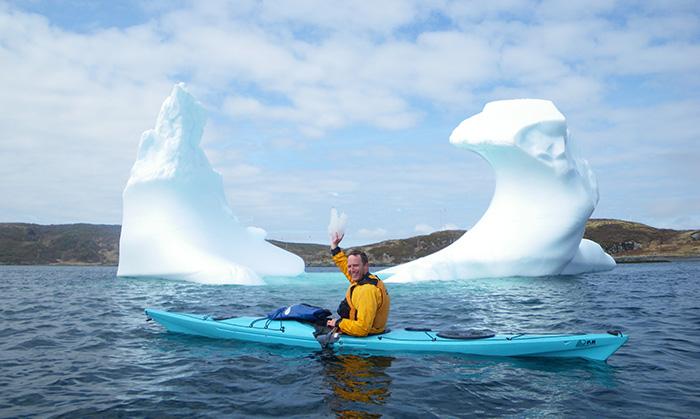 Kayaking with icebergs near St Anthony