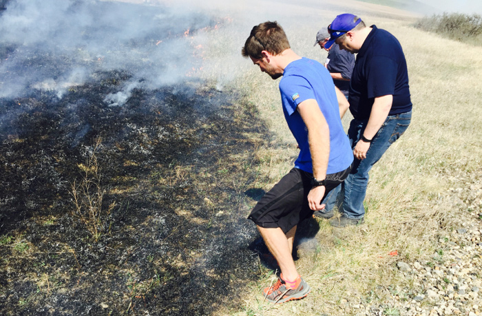 Stomping out pesky prairie wildfires