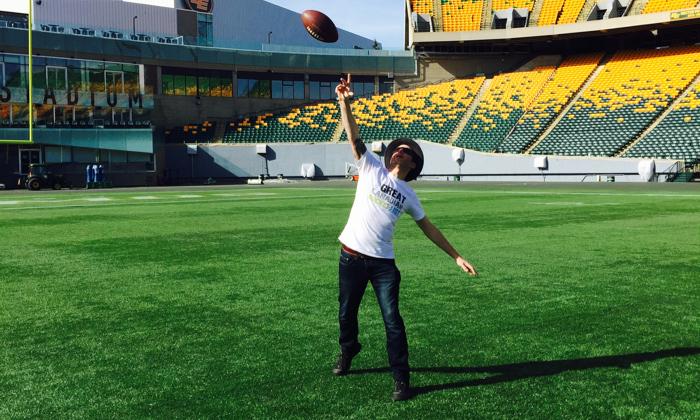 Touchdown in Commonwealth Stadium