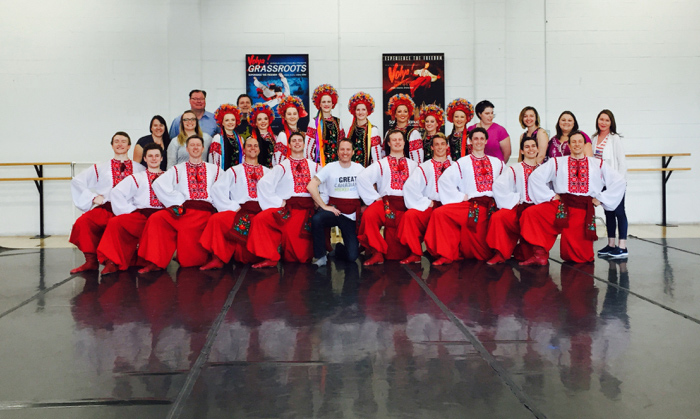 WIth the Volya Ukranian Dance Ensemble